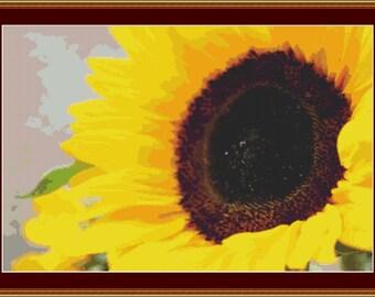 Fresh Sunflower Cross Stitch Pattern