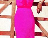 Vintage 1930s Chic Cotton Lace Dress with Jabot 173 PDF Digital Crochet Pattern