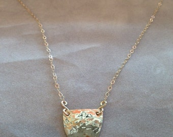 Half Coin Simple Necklace, Handcrafted Jewelry