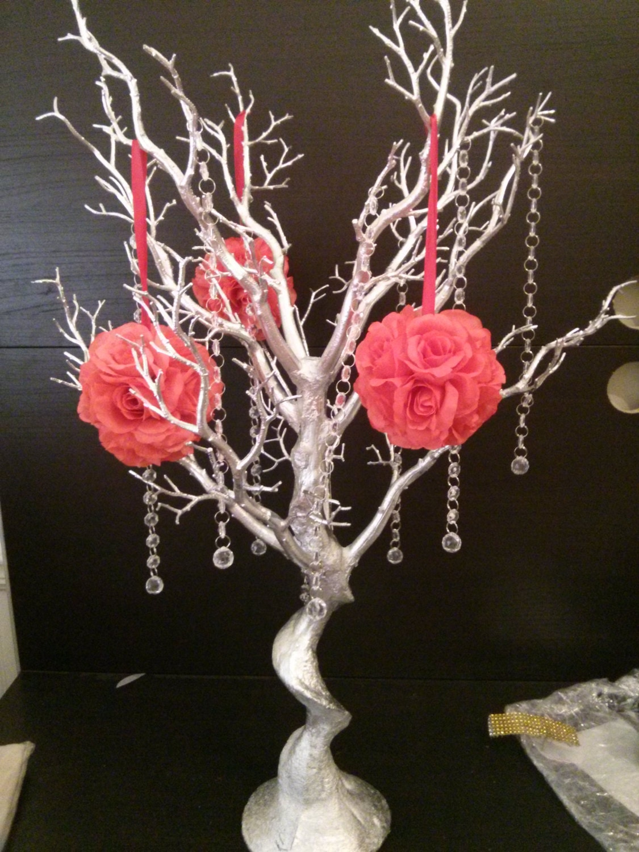 Manzanita tree centerpiece kit color options available