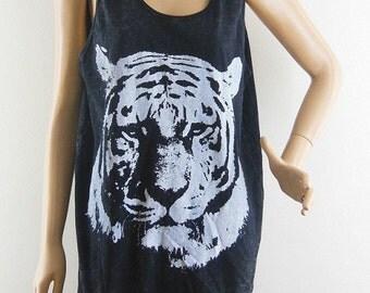 Tiger t shirt tiger shirt tiger tank (Unisex T-Shirt) Bleach Black Tshirt women graphic shirt teenager shirt cool top Screen Print Size M