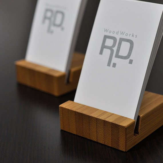 Business card holder Vertical business card by woodworksRD