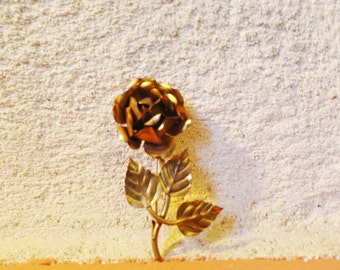 Brass vintage 50 Rose spindle