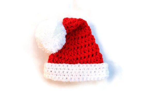 Christmas Baby Santa Hat Crochet Santa Hat Baby by YarnForBaby