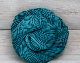 Calypso - Hand Dyed Superwash Merino Wool DK Light Worsted Yarn - Colorway: Fjord