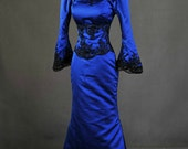 READY TO SHIP Once Upon A Time Regina Evil Queen Inspired Royal Blue Ball Gown Dress Cosplay Costume