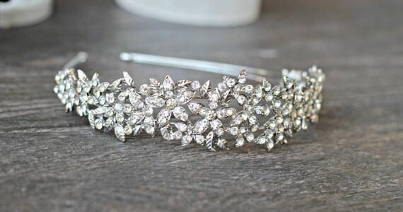 LINA Wide Swarovski Bridal Headband