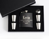 1, Personalized Groomsmen Gift, Engraved Flask Set, Stainless Steel Flask, Personalized Best Man Gift, 1 Flask Set