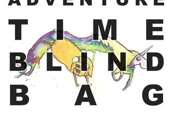 Deluxe Blind Bag, Adventure Time Themed. Archival inkjet prints. 60 dollars worth of merchandise for 30 dollars!