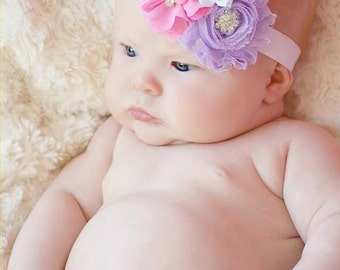 SALE- Baby Headband, Infant Headband, Newborn Headband, Toddler Headband, Baby Headbands, Flower Headband, Easter Headband
