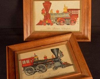 Train Print Locomotive Railroad General Governor Stanford