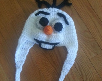 Olaf Crochet hat Inspired by Olaf from Frozen