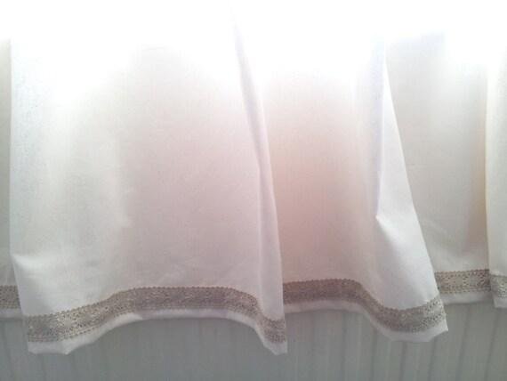 wei e baumwolle gardinen fenster gardinen sheer k che. Black Bedroom Furniture Sets. Home Design Ideas