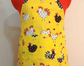 Kids Apron - Chicken Childrens Apron - Childs Apron - Kitchen Accessory