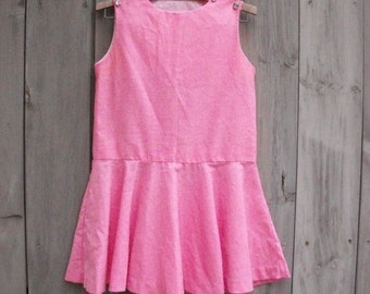 Vintage dress | Candy pink Ginger Lane sundress with skater skirt and jeweled buttons