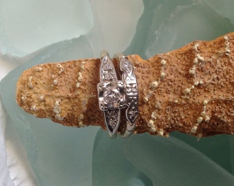 PRICED TO SELL Incredible Diamond Ring Engagement Ring Wedding Ring Set 18k 14k Solid Gold Etsy andersonhs