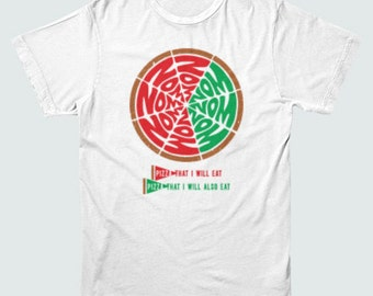 PIZZA PIE CHART Math T-shirt food nerdy Mens and Ladies Sizes
