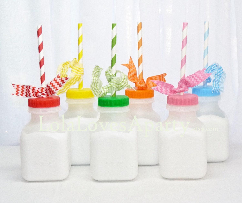 Plastic Old Fashioned Milk Bottles