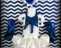 Dallas Cowboys Cheerleaders Glitz Pageant Wear / Football DCC Cupcake Outfit / NFL Sports / Casual Wear / Outfit of Choice OOC