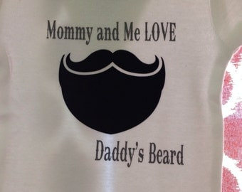 Mustache and Beard Baby Onesie // Mommy and Me Bodysuit
