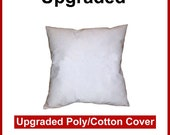 Pillow Forms, Pillow insert - Upgraded Poly/Cotton Cover