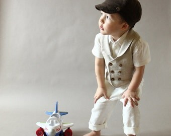 Boys newsboy hat infant boy newsboy hat Ring bearer hat Newsboy Cap Photo prop Toddler newsboy hat