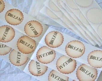 PERSONALIZED Vintage Style Sticker Seals