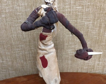 Unusal Handmade Tribal Doll - Weighted Base - Belgium
