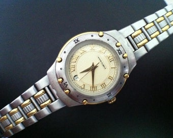 Vintage Womens Watch, Anne Klein II Women's Watch, Roman Numeral Hour Markers - Calendar Window Date Feature, from Delovelyness