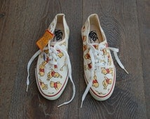 SALE Vintage Deadstock Winnie the Pooh Vans - Rare -  Disney Vans - USA Made Disney Sneakers Plimsolls Tumblr Fashion Gift Idea for Her