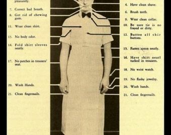 Retro 1930's Fridge Magnet How to Look Your Best for Minimum Wage Job Soda Jerk Cook