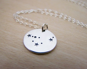 Dainty Sterling Silver Zodiac Capricorn Constellation Necklace / Gift for Her