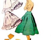 1950s Vintage Easy Sew Petticoats Pattern Hip Ruffle Variations Full Flared Crinoline Layers Advance 6071 Sewing Patterns Size 24 Waist p2z
