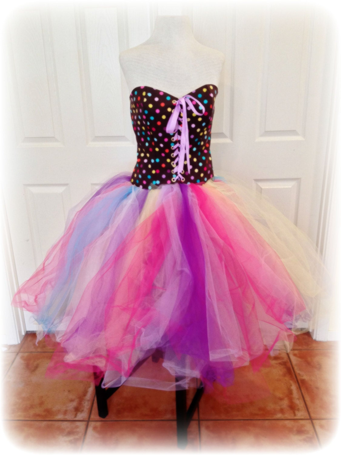 adult tutu dress corset tutu dress polka dot birthday party