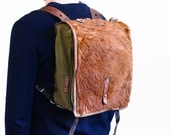 WW2 Backpack - Leather Canvas and Cowhide Rucksack