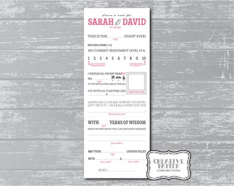 DIY Printable Wedding Mad Libs Keepsake Game - Marriage Advice