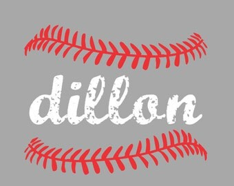 Kids Name and Baseball Wall Decal, Sports, Kids Room Wall Decal, Nursery Wall Decal, Wall Art Decor