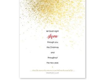 Christian Christmas Card Template - Photoshop Template - 1197