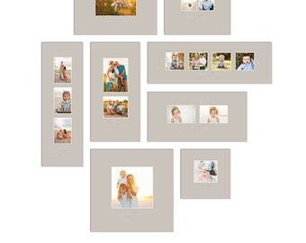 Print Collage Templates - Eight Piece Tribeca Collection - 1332