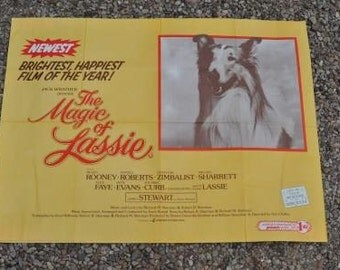 SOLD.  Original 1970s film poster The Magic of Lassie