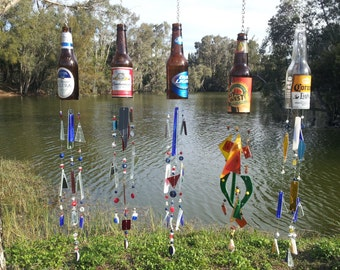 Beer Bottle Wind Chime (Made to order Choose your Beer Bottle)
