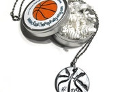 Personalized Basketball Necklace with Player's Number - Handstamped, Personalization, Basketball Gifts, Basketball Jewelry, Basketball Moms