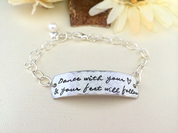 Dance With Your Heart And Your Feet Will Follow Bracelet- Dancer Bracelet- Dancer Gift- Dance Like No One Is Watching- Hand Stamped Bracelet