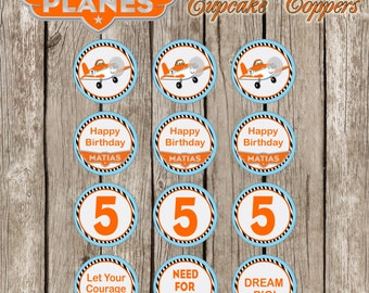 Disney Planes Cupcake Topper - PartyCircles - Disney Planes Birthday Party - DIY Printable