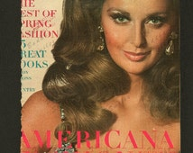 Vintage Magazine Cover - Vogue February 1, 1967 -  (Samantha Jones) (474)