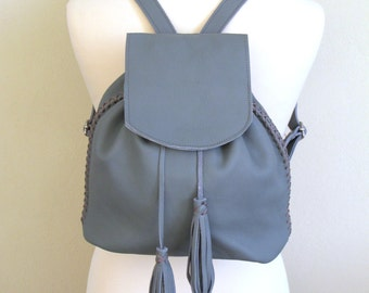 Handmade Leather Backpack with adjustable straps available in 16 colors