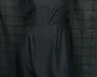 Women's Vintage Black Dress By Sears Size 16