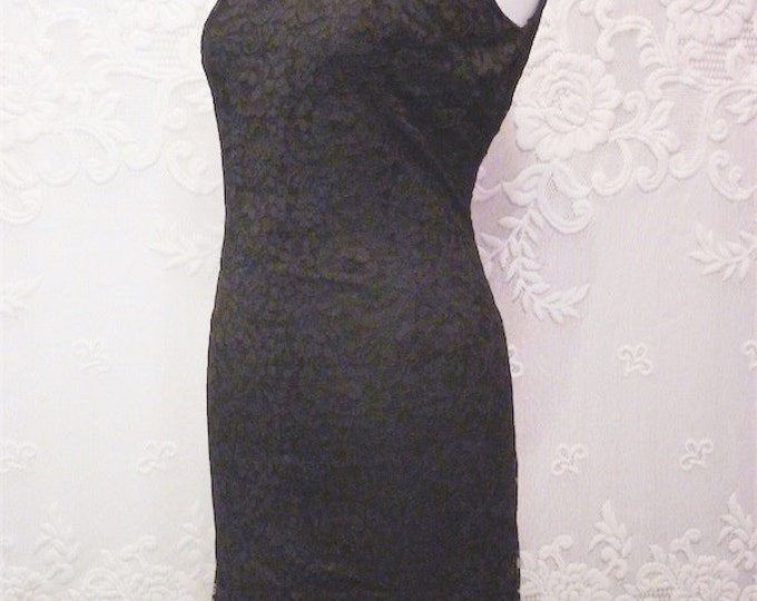 DAYVAL black LACE close-fitting retro DRESS