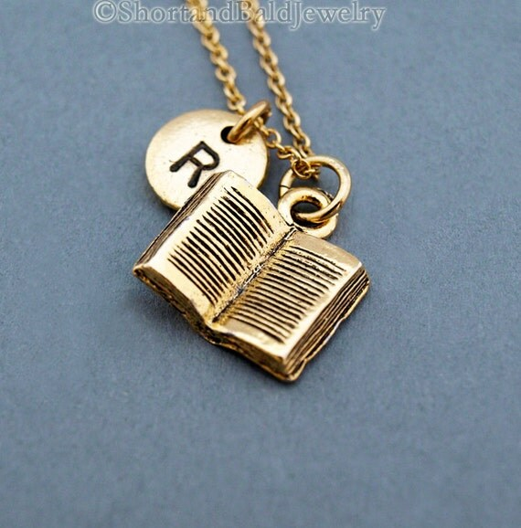 Reading Earrings: Book Necklace Reading Book Open Book Book By