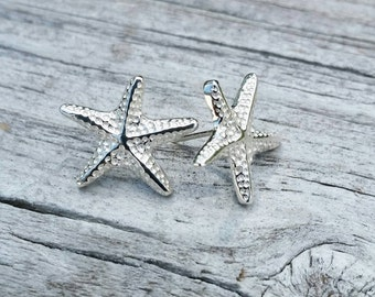Adorable Starfish Sterling Silver Starfish Earrings, Starfish Studs, Silver Earrings, Silver Starfish, Nautical Earrings  - ST11